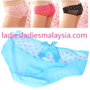 Cute sexy panty with polka dots lady colourful ribbon