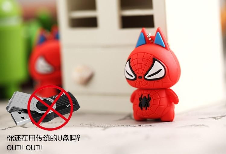 Cute Spiderman in Red 16GB USB Thumb Drive