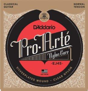D'Addario EJ45 Pro-Arté Nylon Classical Guitar Strings, Normal Tension