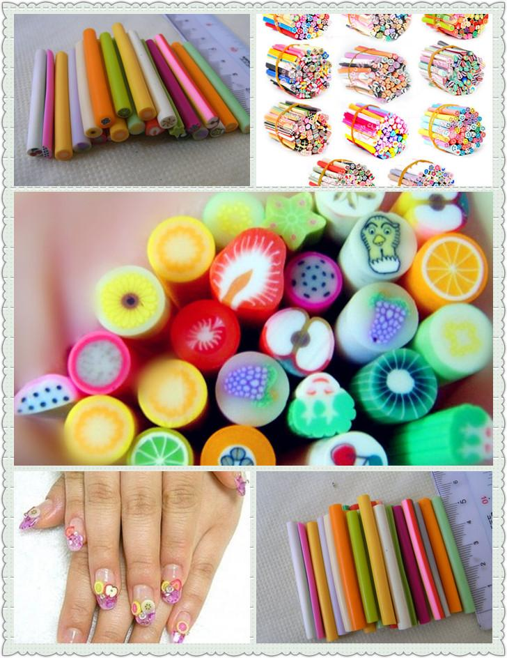 D fimo canes rods sticks polymer clay 3d nail art for 3d nail art fimo canes rods decoration