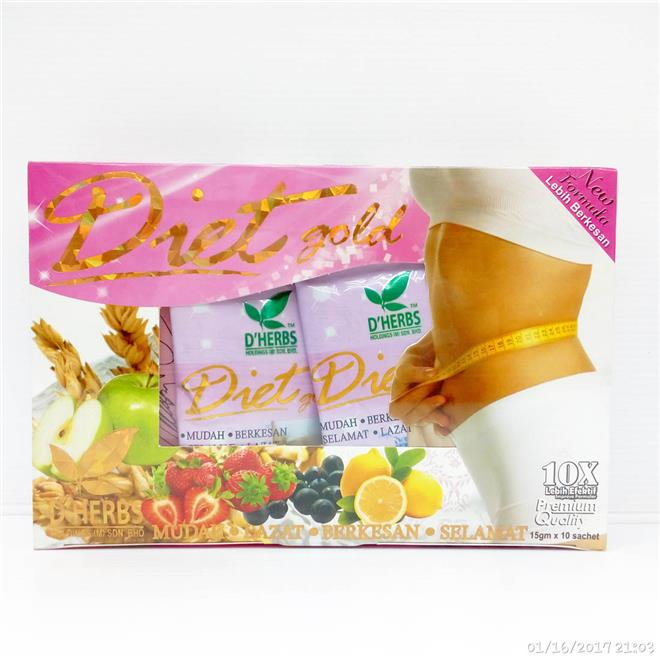 D'Herbs Diet Gold 10sachets for Slim (end 1/18/2018 7:15 PM)