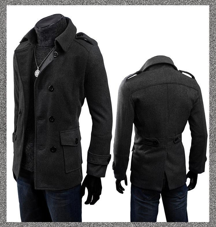 new d homme korean cashmere double breasted trench coat. Black Bedroom Furniture Sets. Home Design Ideas