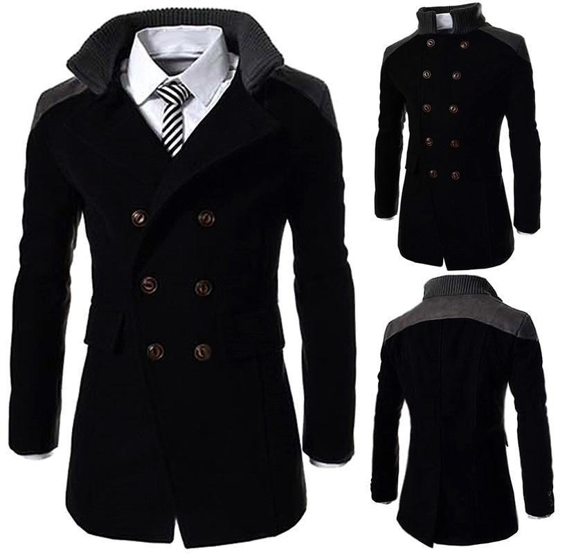 NEW~D.HOMME KOREAN STYLISH HIGH COLLAR BREASTED TRENCH COAT