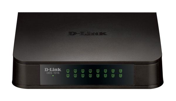 D-LINK 16-PORT STANDARD NETWORK SWITCH, DES-1016A