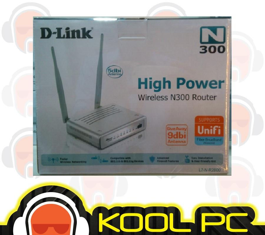 D-link D-L7-N-R2000 Wireless N 300M 2x5di Antenna support TM Unifi