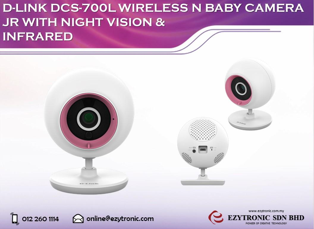D-LINK DCS-700L Wireless N Baby Camera Jr with Night Vision & Infrared