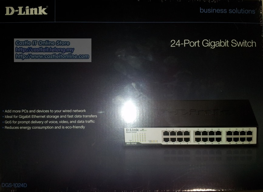 D-Link Switch Gigabit 24-port 100/1000mbps (DGS-1024D)