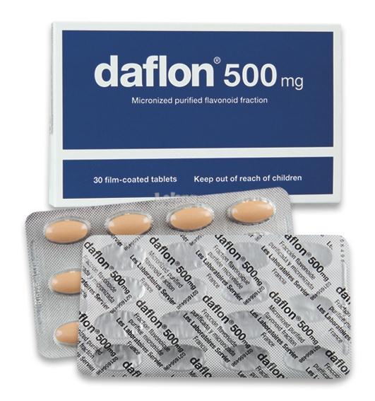 DAFLON 500MG (TO RELIEVE PILES/BUASIR) (30 TABLETS PER BOX)