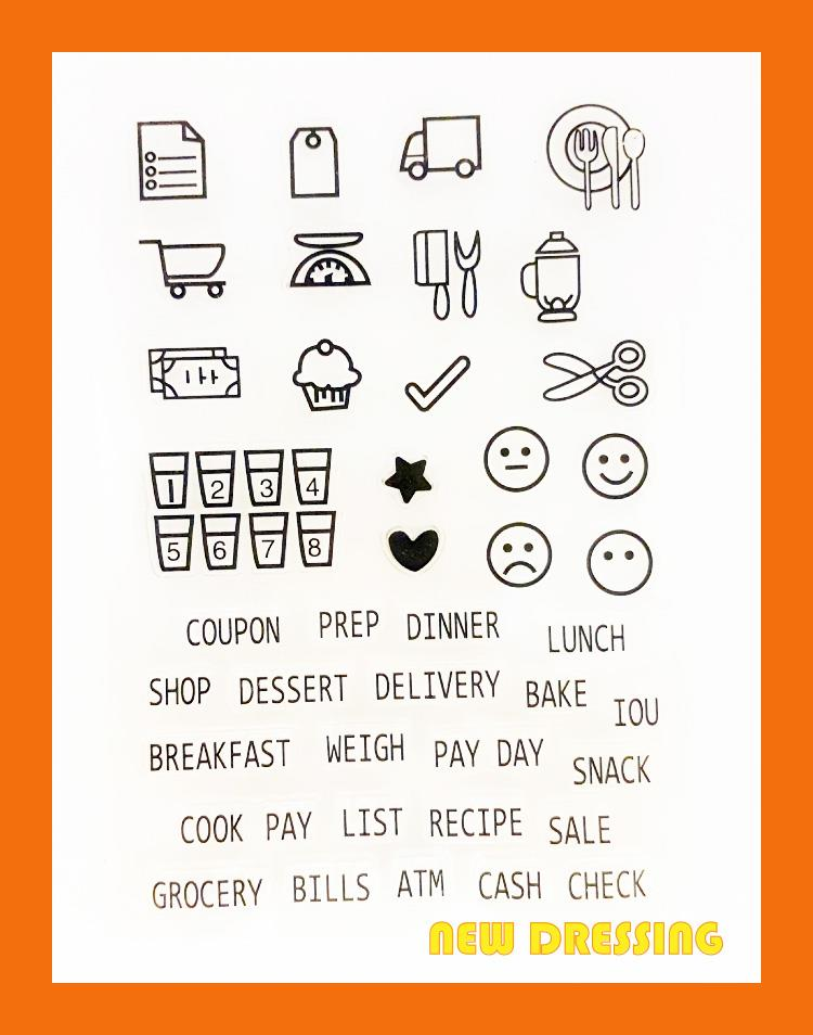 Daily Grocery Wording Clear Stamp - Zakka/Diary/Photobook DIY