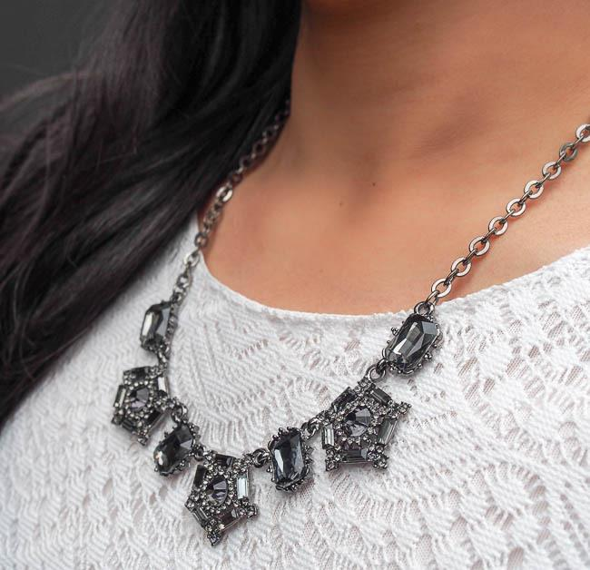 Dainty & Bold - Statement Geometric Rhinestone Necklace