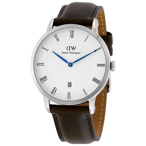 DANIEL WELLINGTON Dapper Bristol 1123DW Brown Mens (Silver Tone)