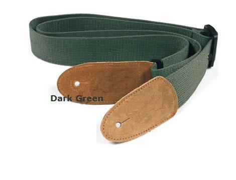 Dark Army Green Guitar Strap
