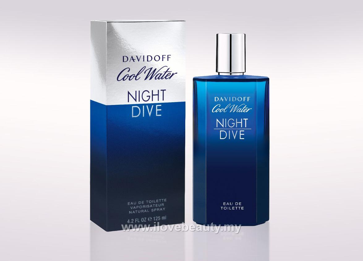 DAVIDOFF COOL WATER NIGHT DIVE - MEN EDT 125ml*** ORIGINAL PERFUME ***