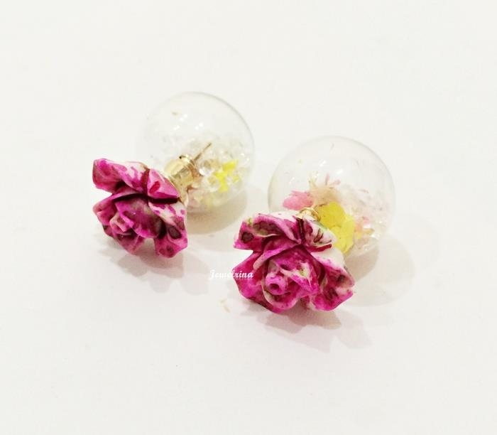 Dazzling Floral Double Earrings (Free Shipping)