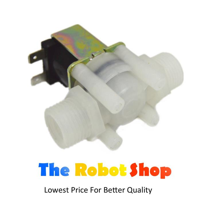 DC 12V Solenoid Electronics Water  Pipe Valve 1/2 in inch