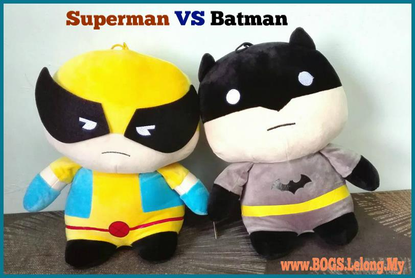 DC Super Hero Soft Plush Toy, Superman & Batman Stuffed Plush Doll