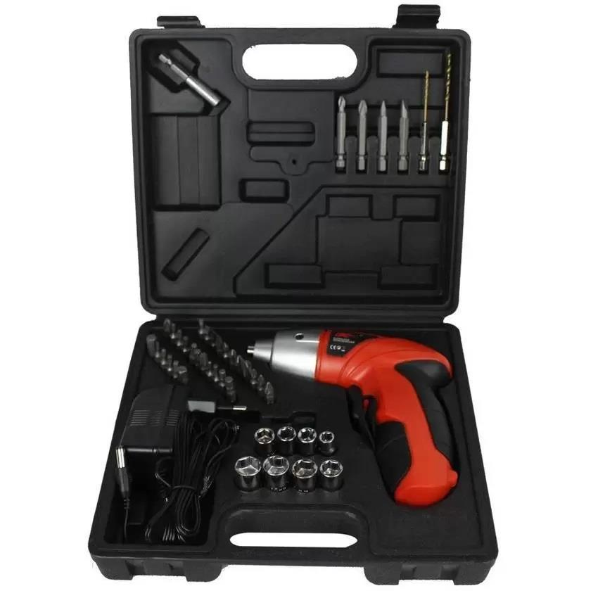 DC TOOLS 45 Pieces Power Tools Cordless Electric Screwdriver & Drill w