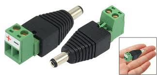 DCPM01 DC Plug Male; Screw On type Power connector