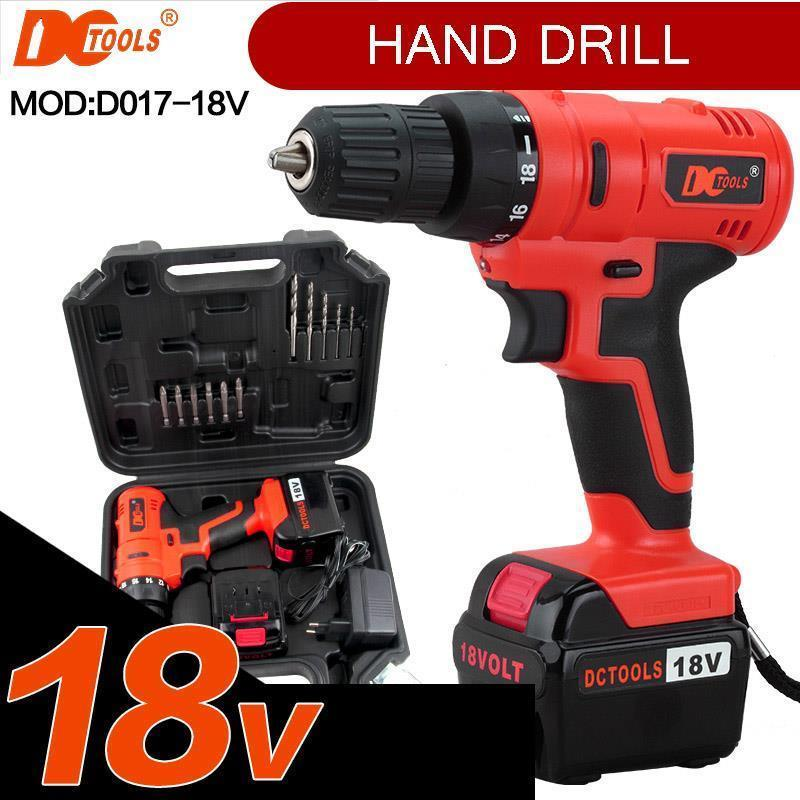 DCTOOLS DC-D017 18V Rechargeable Cordless Electric Power Tool Drill