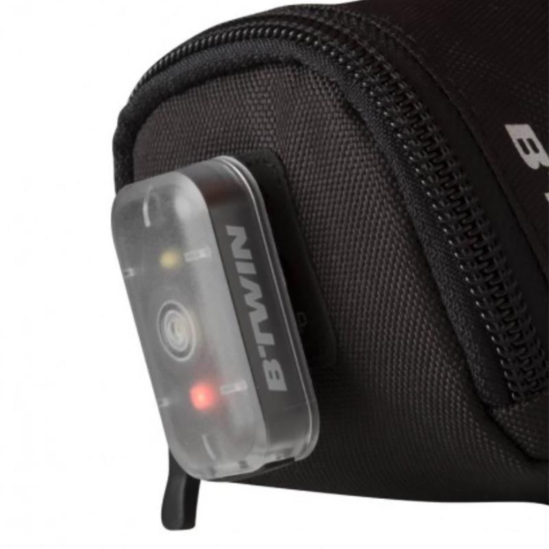 Decathlon B'TWIN Bike Light Saddle Seat Bag Bike Strap-On Rear Tail