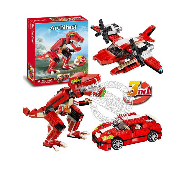 Decool 3116 Architect 3 in 1 Roaring Power Building Blocks