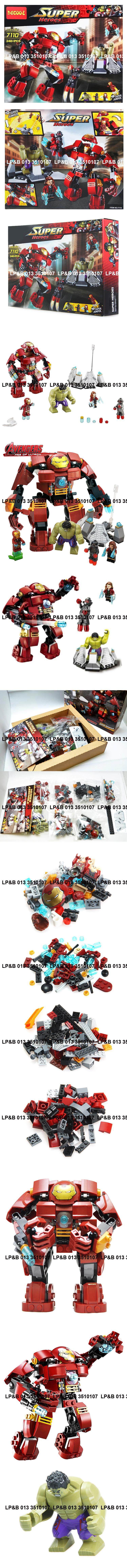 DECOOL 7110 Super Heroes Avengers Iron Man & Hulk Lego Bricks Set