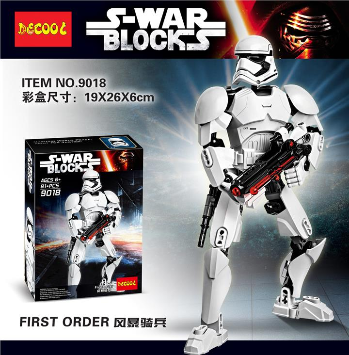 DECOOL 9018 S-Wars ( Star Wars) First Order - 100% Lego Compatible