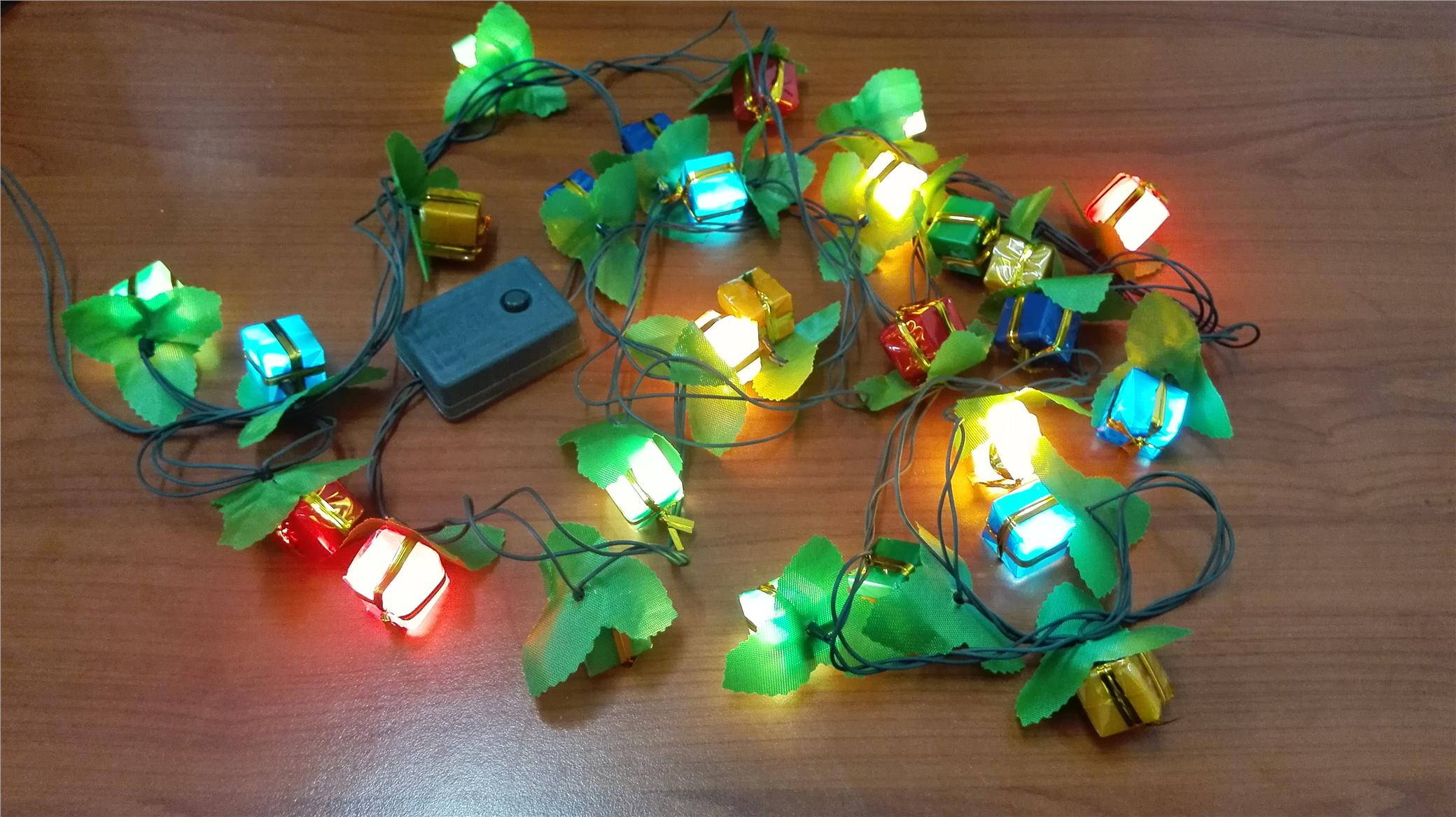 Decorative 60 Present Box RGB LED Light