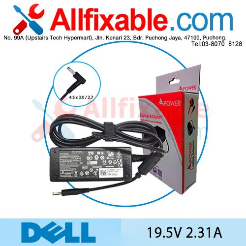 Dell 19.5V 2.31A XPS13-4040SLV XPS13-0015SLV Adapter Charger