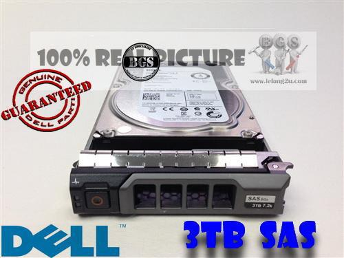 Dell 3TB 6Gb/s SAS 7.2K RPM LFF Hot-Swap HDD 09KK9 New
