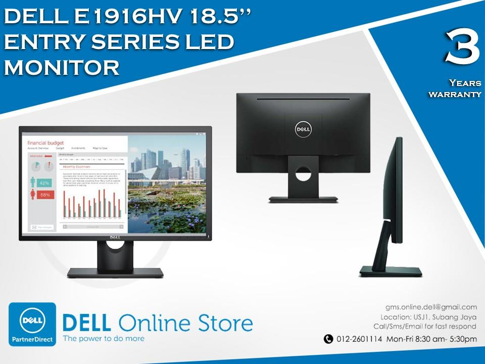 Dell E1916HV 18.5'' Entry Series LED Monitor