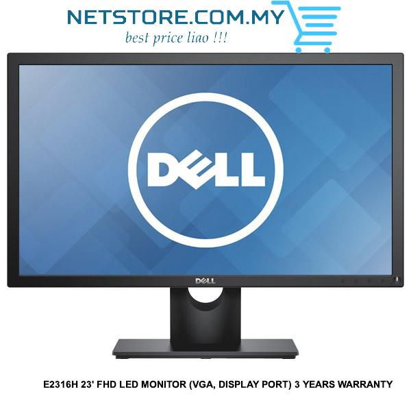 DELL E2316H 23' FHD LED MONITOR (VGA, DISPLAY PORT) 3 YEARS WARRANTY