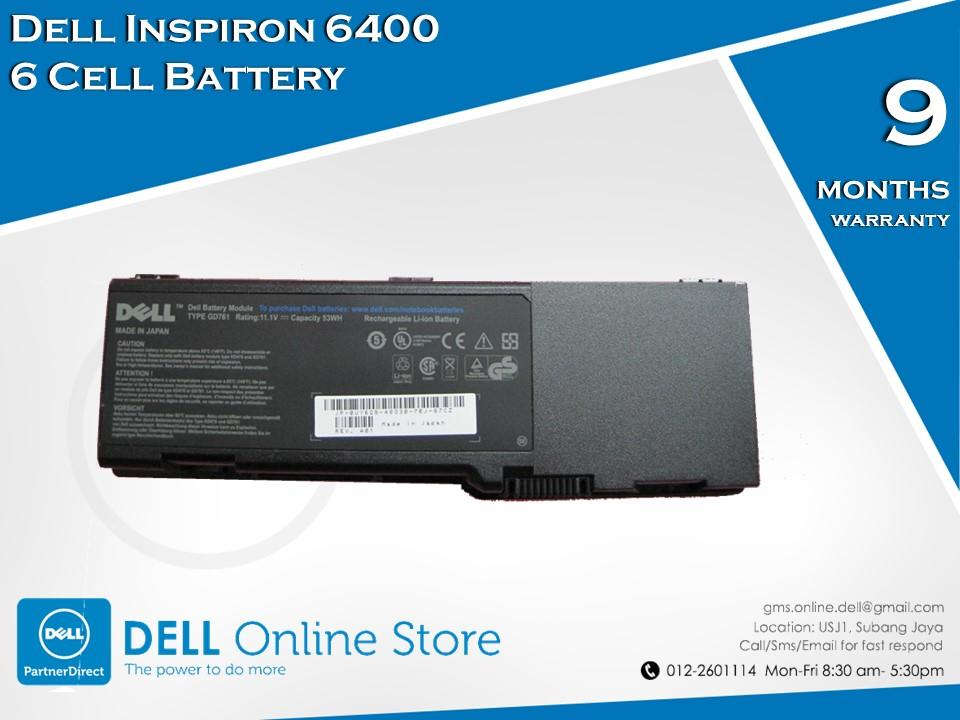 Dell Inspiron 6400 6 Cell Battery