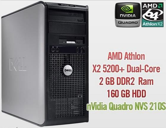 Dell Optiplex 740 MT AMD Athlon 2GB 160GB Nvidia Windows 7 CPU