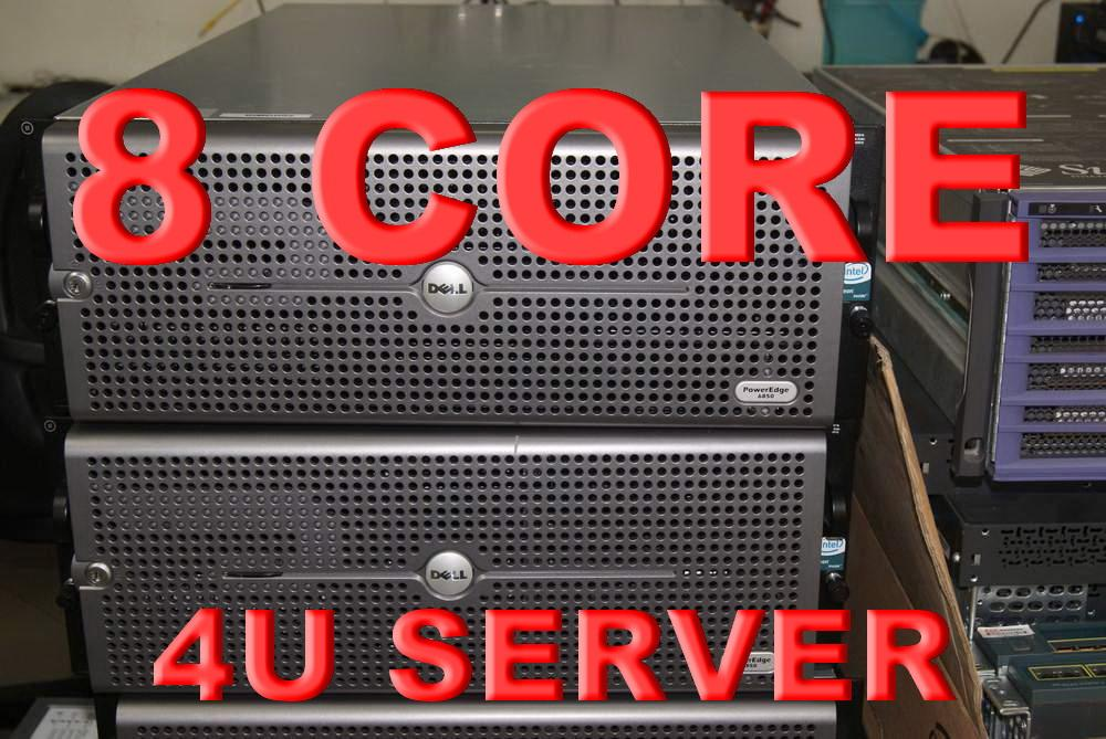 Dell PowerEdge 6850 4 x Dual-Core 7130M 3.2Ghz 8Gb 5x146 Rack ...