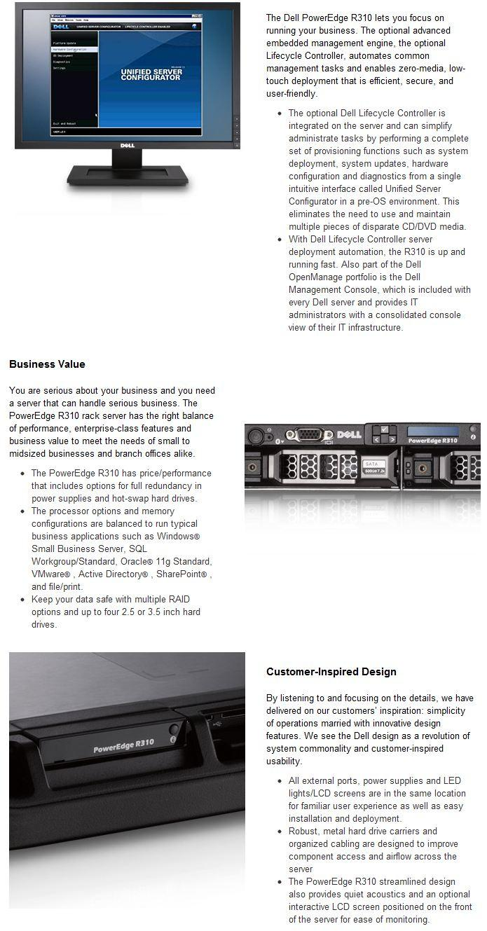 DELL PowerEdge R310 Rack Server ! PROMOTION NOW!
