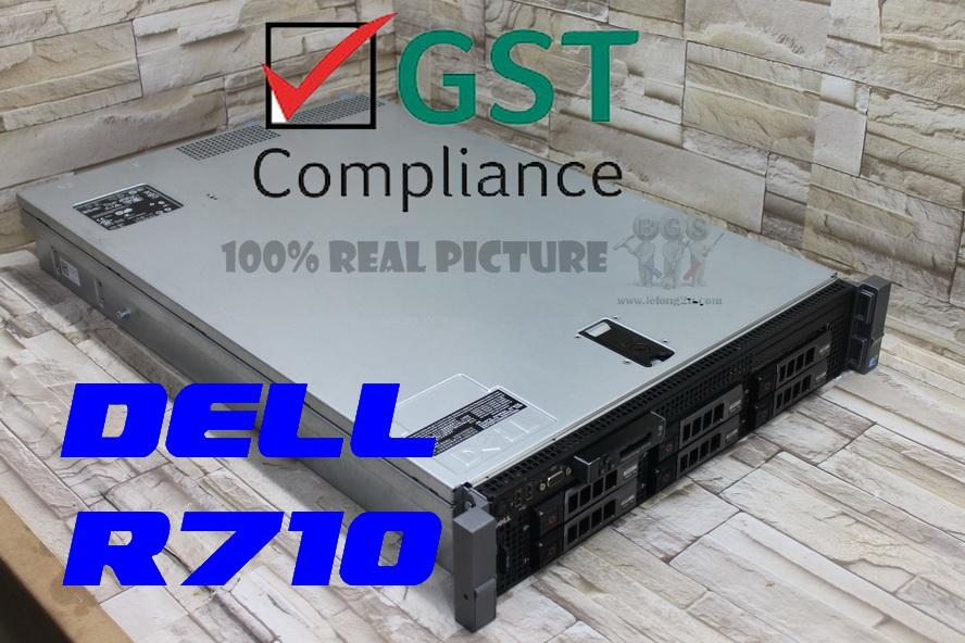 Dell Poweredge R710 2U Server ~ 2 X QUAD CORE  + 48GB RAM