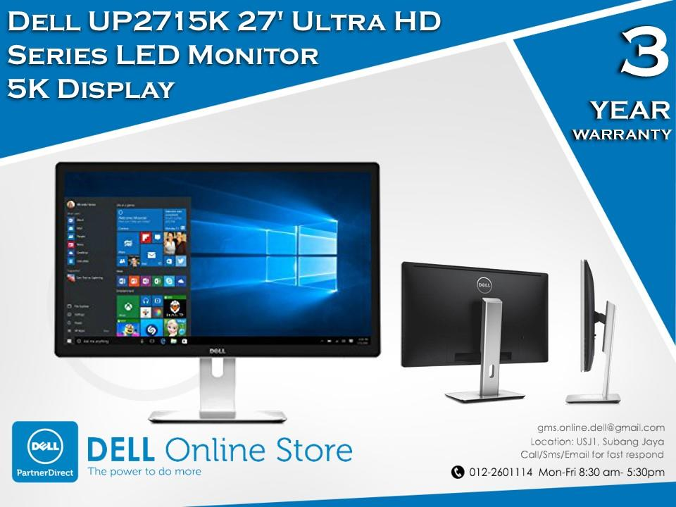 Dell UP2715K 27' Ultra HD Series LED Monitor