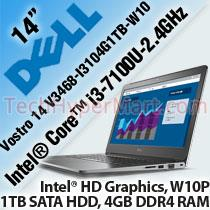 DELL VOSTRO 14 V3468-I3104G1TB-W10 LAPTOP/ NOTEBOOK