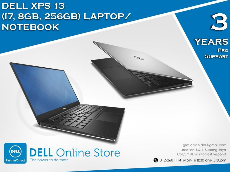 Dell XPS 13 (i7, 8GB, 256GB) Laptop/Notebook
