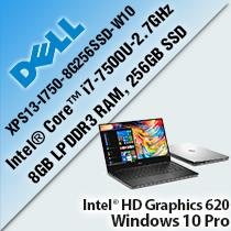 "DELL XPS13-I750-8G256SSD-W10 (9360) 13.3"" LAPTOP/ NOTEBOOK"