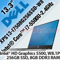 DELL XPS13 I7508G256SSD W8 133 LAPTOP NOTEBOOK