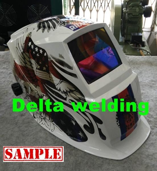 Delta White Angel Auto Darkening welding machine Helmet