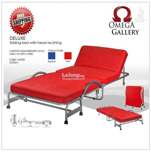 Deluxe foldable sofa bed red fr end 8 15 2017 12 15 am for Sofa bed penang
