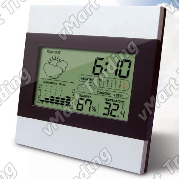 Deluxe Weather Station  Humidity Hygrometer Thermometer Alarm Clock