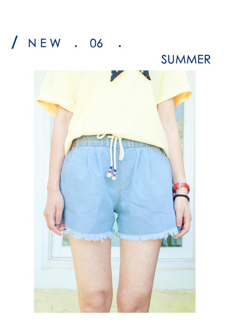 Denim Short Pant Light Blue
