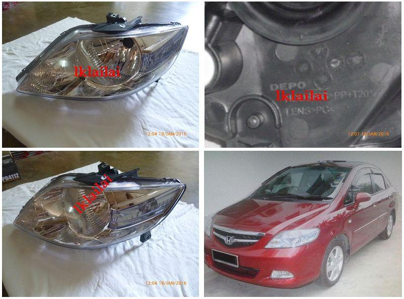 DEOI Honda City 2005 OEM Style Head Lamp (RH/LH) 1-Side only
