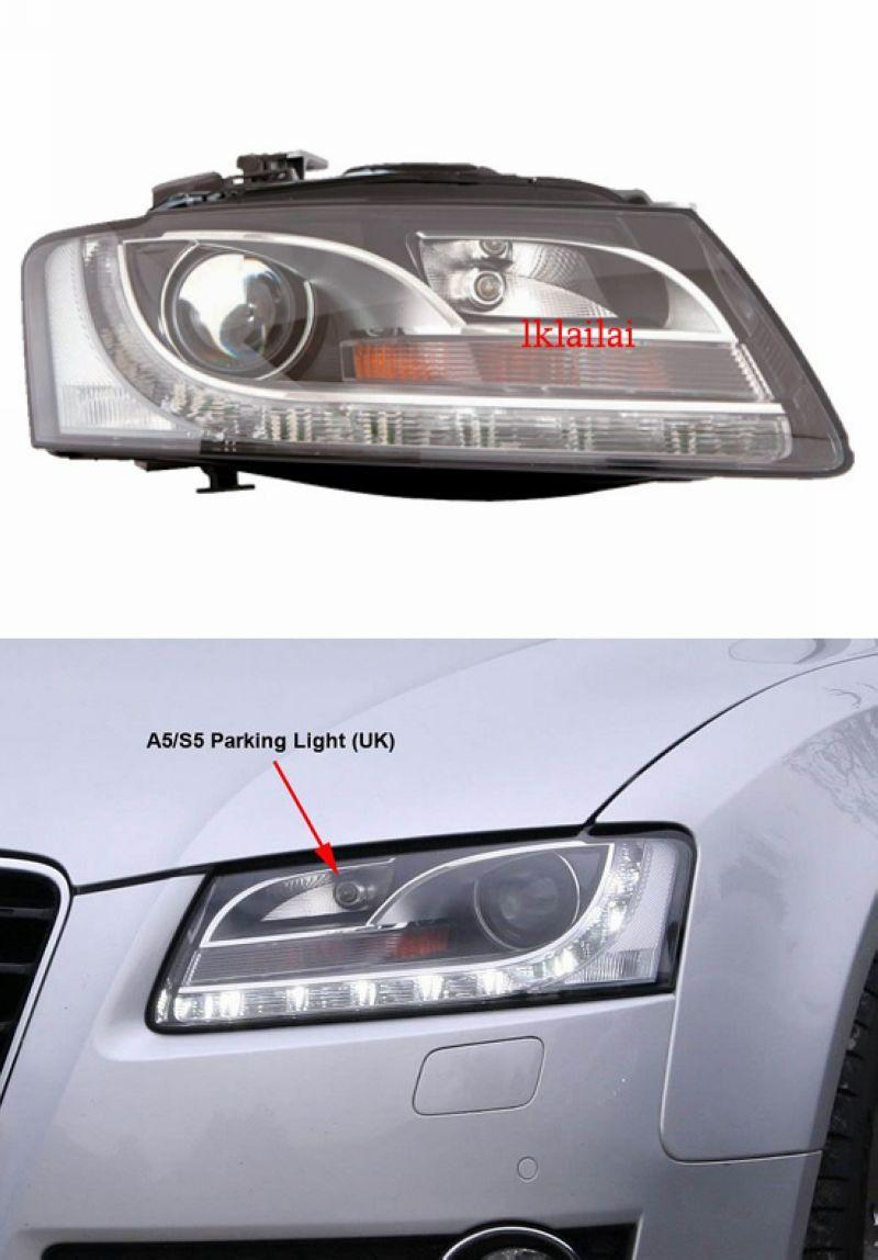 DEPO Audi A5 '08 LED DRL R8 Projector Head Lamp [H7] 1-pair