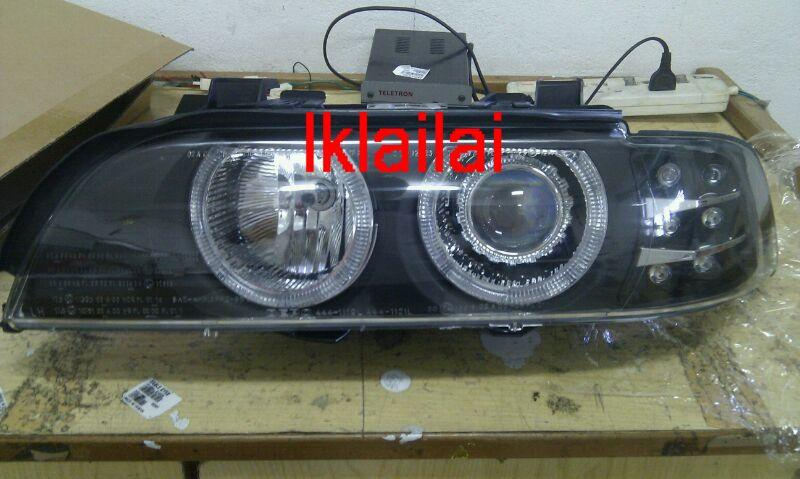 DEPO BMW E39 `95 Head Lamp Projector W/Rim+Motor+ Signal LED