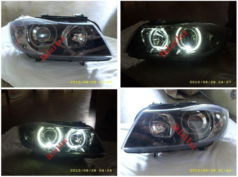 DEPO BMW E90 '05 U-Style LED Ring Projector Head Lamp